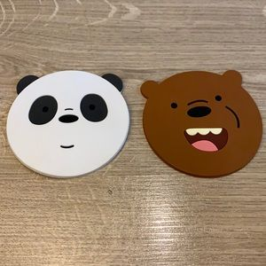 We Bare Bears Rubber Coasters